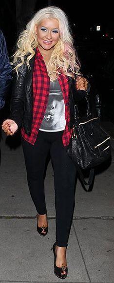 Christina Aguilera's casual style