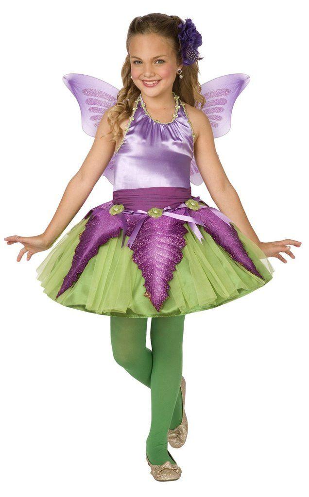Purple Flower Fairy Child Costume