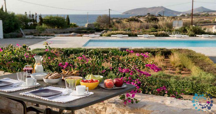 "Welcome to the ""Villa Alkestis"" in Paros, Greece. Your #luxury #villa #rent #greece #greek #island #vacances #grece #mygreekvilla #alouer"