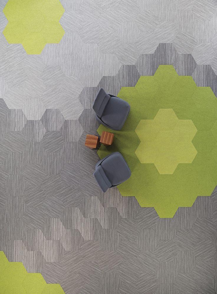 Tekstiilimattolaattojen väreillä ja muodoilla tilasta tulee aina omannäköisensä.