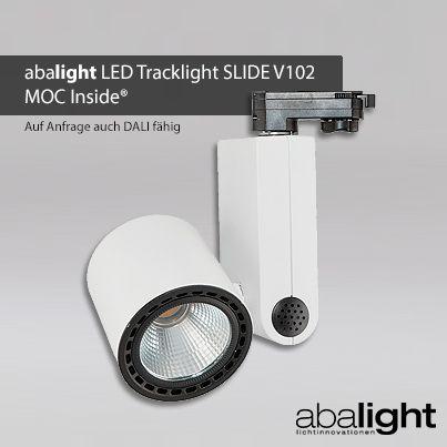 Spectacular Das neue abalight LED Tracklight SLIDE V ist die neuste Leuchte aus dem abalight LED Downlight