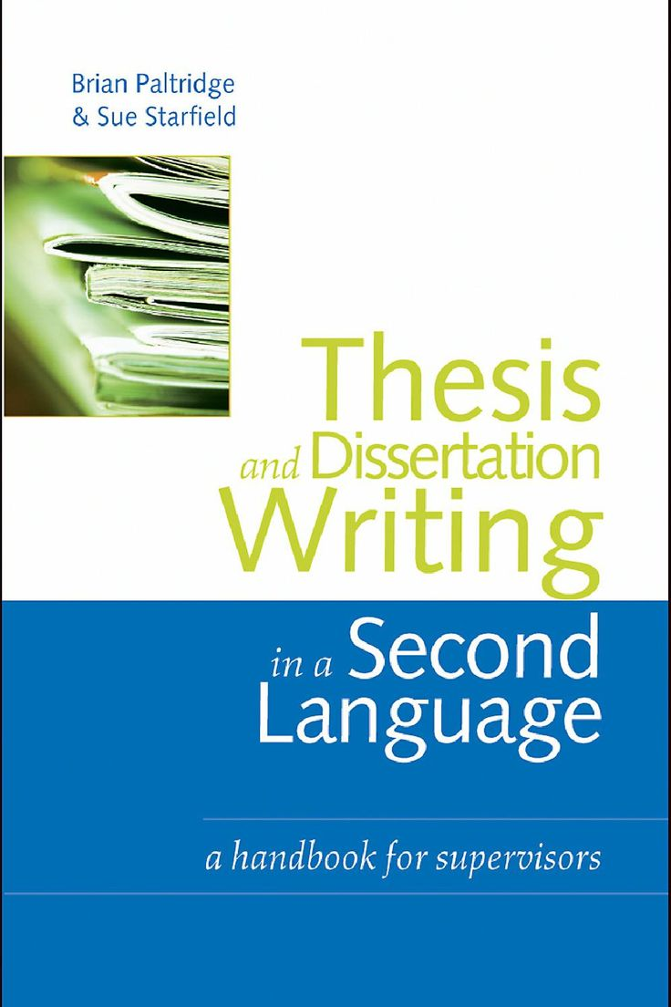 Thesis dissertation writing second language