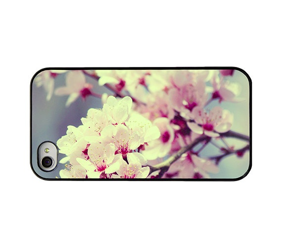 Blossom Iphone case  Pink blossom Iphone 4 and 4 s
