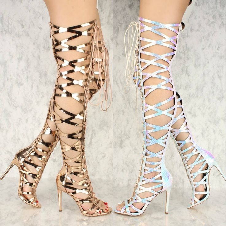 Left or Right? http://www.myshoebazar.com/product/hologram-thigh-high-heel-boots/