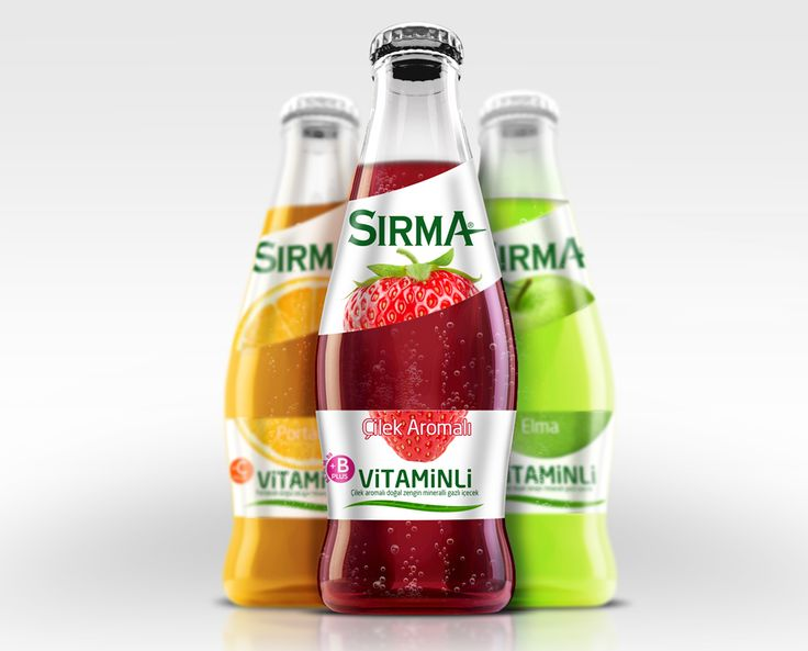 To underline 100% real fruit juice of the product and differentiate from the competition, premium design alternatives were prepared. #packaging #design #bottle #mineralwater #premium