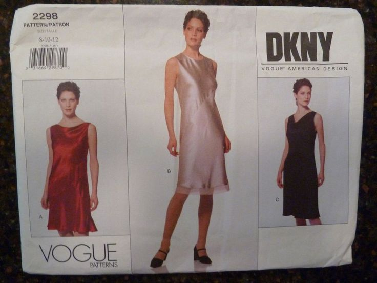 Vogue 2298 Donna Karan DKNY Designer Original 1999 Pattern size 8/10/12 Uncut   | Crafts, Sewing, Sewing Patterns | eBay!