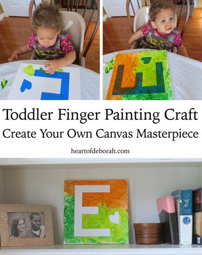The Perfect Rainy Day Finger Paint Craft for Toddlers