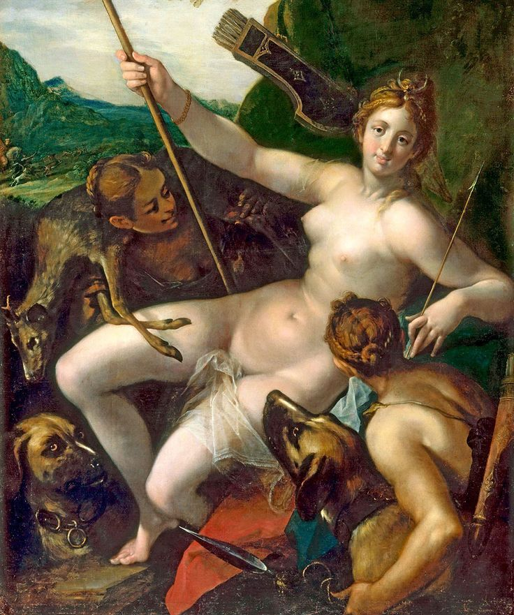Diana With Nymphs After Hunt 1602 Liec