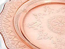 "Depression Glass - Federal - Patrician / Spoke - Pink Dinner Plate 11"""