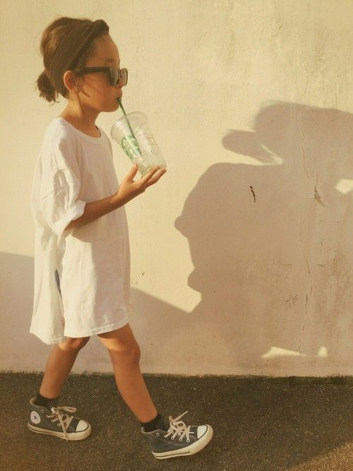 Kids style | tshirt style dress | converse high tops for kids | cool