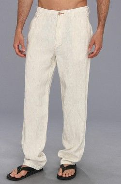 White Linen Pants for Men  These are one of my favorite looks for men. These just scream summer. Tommy Bahama Line of The Times Easy Fit Pant #WhiteLinenPantsforMen #LinenPantsforMen
