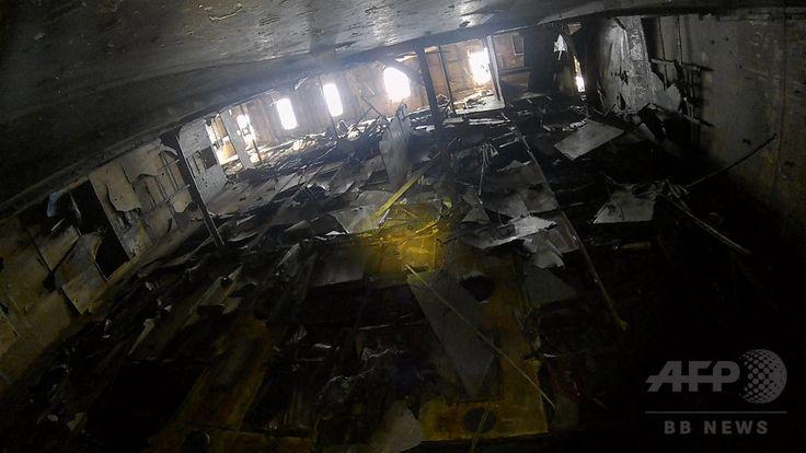 韓国南西部・木浦の港に接岸されたウォル号の内部の写真。韓国・海洋水産省提供(2017年4月8日撮影、資料写真Files)。(c)AFP/South Korean Maritime Ministry ▼25May2017AFP|セウォル号で発見の骨、女子高生と判明 身元特定3人目 http://www.afpbb.com/articles/-/3129600 #Sewol