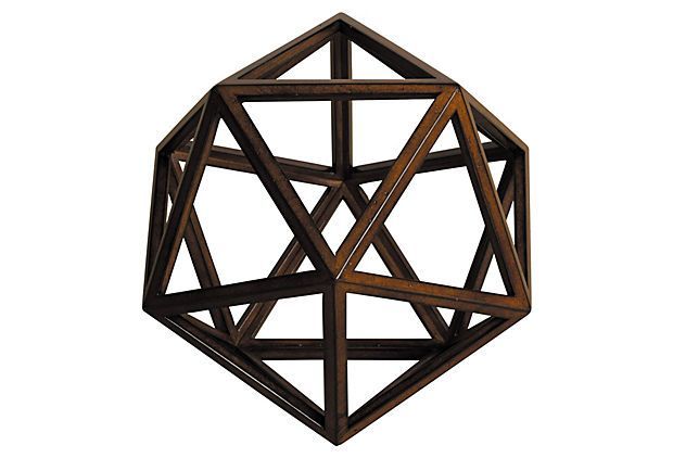 "One Kings Lane - Simply the Best - 10"" Geodesic Objet"