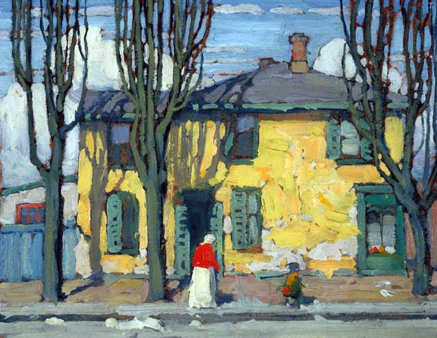 In The Ward (sketch) c.1919 Lawren Harris