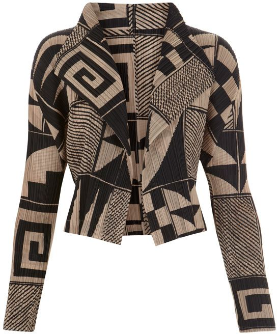I am lusting after this aztec print jacket - spectacular!