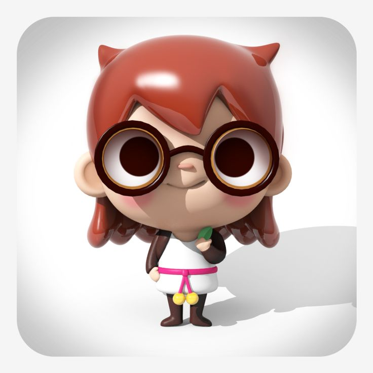 3D Model by Cecy Meade based on Azul Piñero character