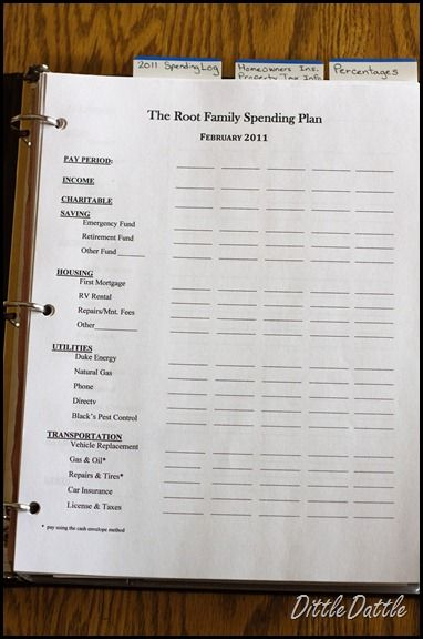 Dave Ramsey inspired financial notebook