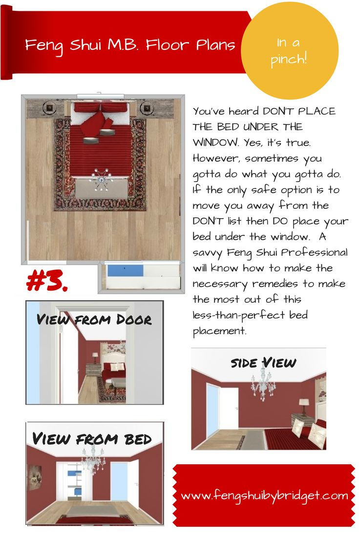Feng Shui Bed placement. You have heard DON'T PLACE THE