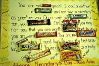 ELEMENTARY SCHOOL ENRICHMENT ACTIVITIES: SECRETARY DAY CANDY GRAM