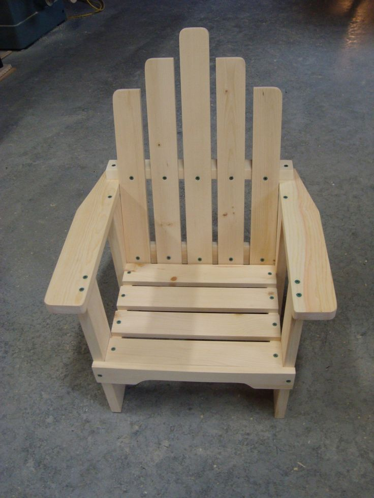 Today I'm going to show you how to make a nice wooden child's chair. I found the pattern for this on the internet at Creekside Woodshop:...