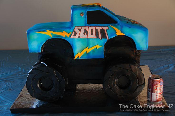Huge monster truck cake!