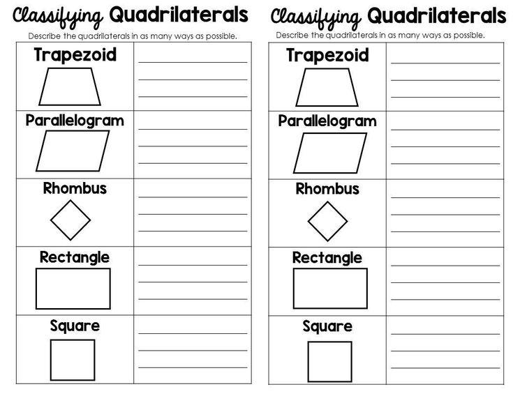 Quadrilaterals 3rd Grade Worksheets Classifying 2d Shapes Polygons Triangles Quadrilaterals Quadrilaterals Grade 6 Math Worksheets Math Worksheets Quadrilaterals 3rd grade worksheets