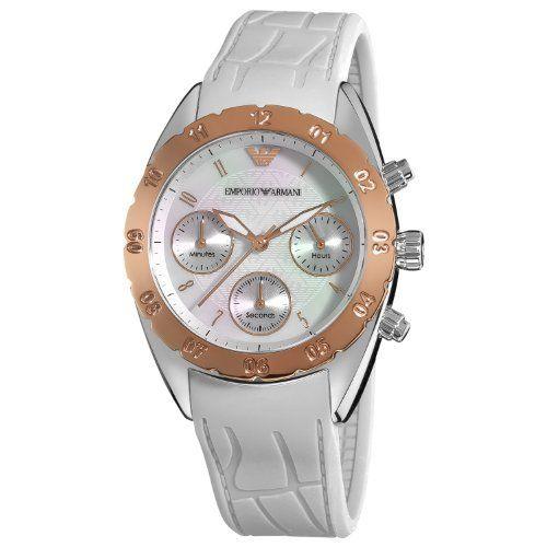 Emporio Armani Women's AR5938 Sport Silver Chronograph Dial Watch Emporio Armani. Save 34 Off!. $194.99