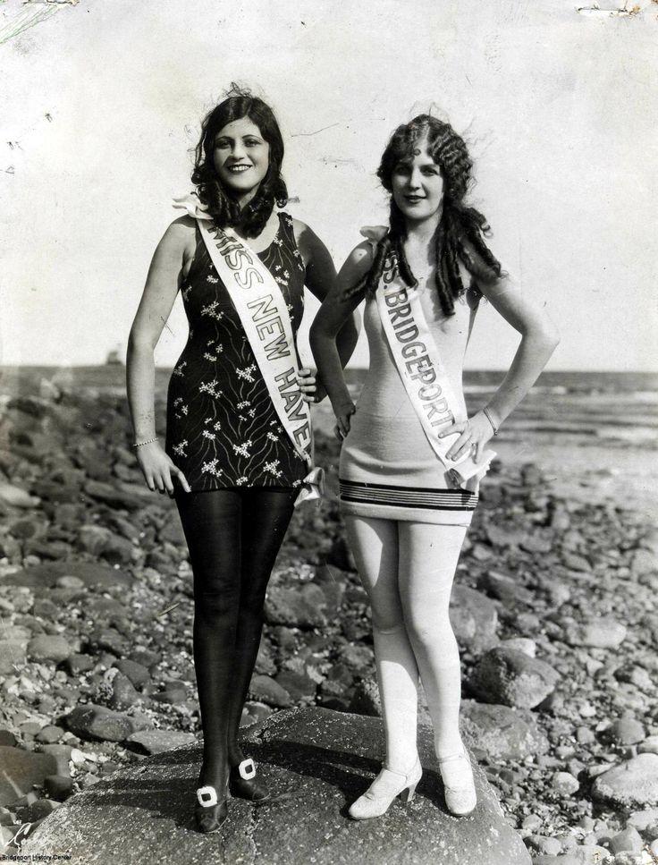 Miss Bridgeport and Miss New Haven, Seaside Park ca. 1920   © 2014 Bridgeport History Center