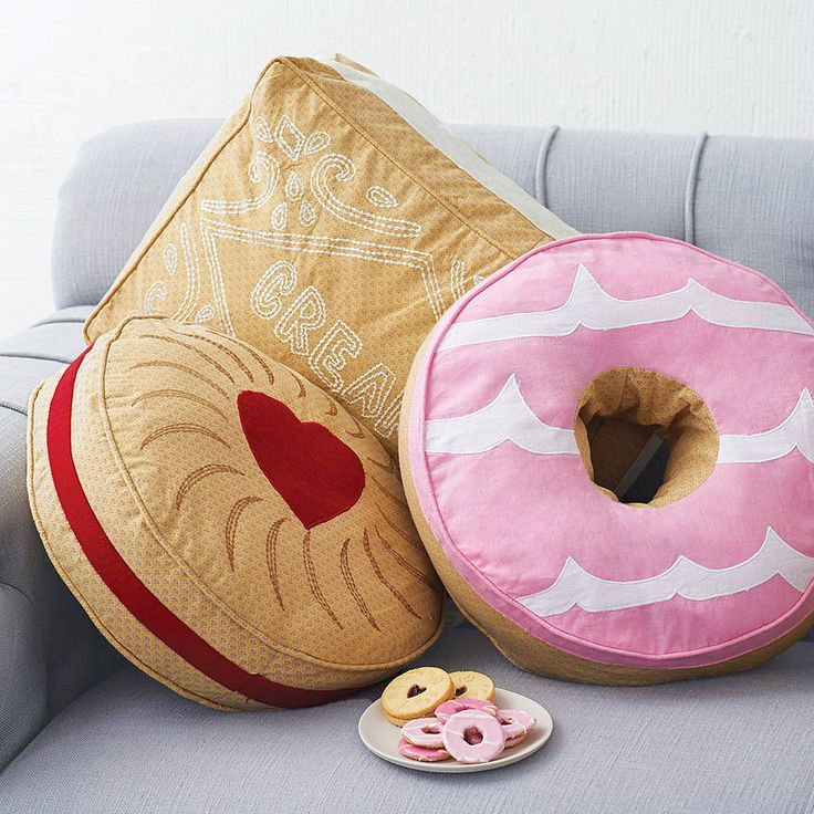 biscuit shaped cushion by lisa angel homeware and gifts | notonthehighstreet.com