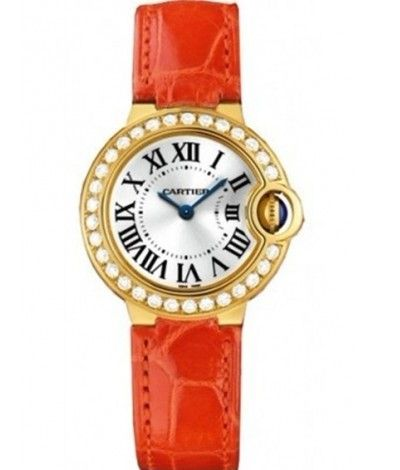 Cartier Ballon Bleu 18 kt Yellow Gold Diamond Ladies Watch WE900151