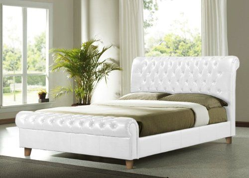 brand new richmond faux leather bed frame white super king l252