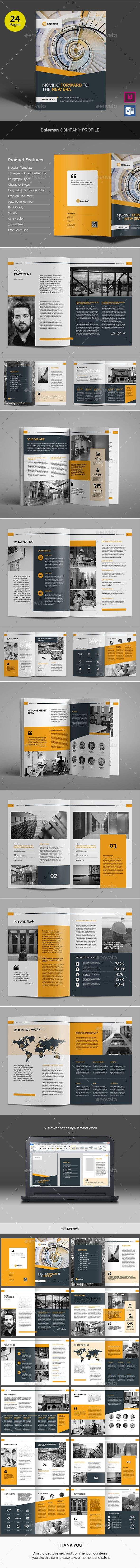 Daleman Company Profile v02 - Corporate Brochures. Download link: https://graphicriver.net/item/daleman-company-profile-v02/17802281?ref=heriwibowo