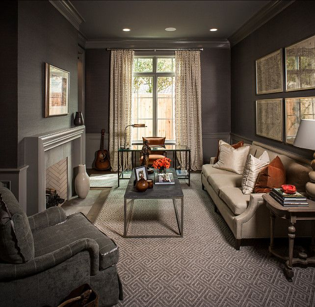 a dark den can be very cozy the color scheme and decor were well rh pinterest com