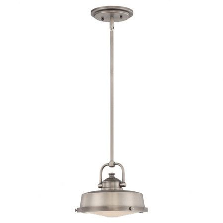 Steel nautical-inspired mini pendant with an antiqued nickel finish.   Product: Mini pendantConstruction Material: SteelColor: Antique nickelFeatures:  Transitional styleWill enhance any dcor  Accommodates: (1) 75 Watt G9 frosted halogen bulb - includedDimensions: 46.5 H x 9.5 Diameter