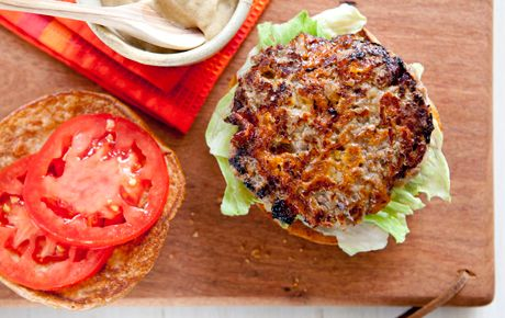 Apple and Cheddar Beef Burgers | Recipe | On the side ...