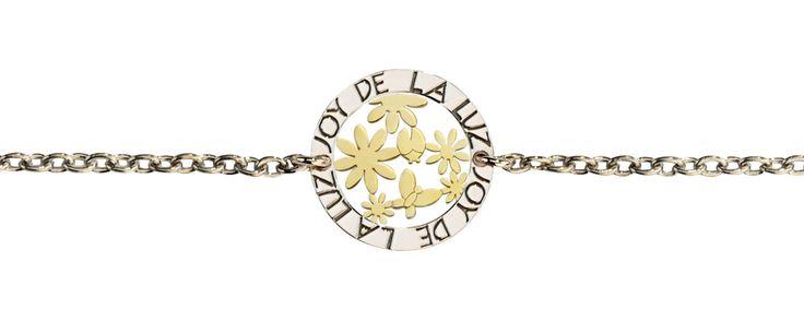 Joy de la Luz   Silver bracelet garden gold  €39,95