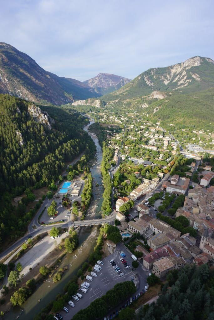 Castellane France. The view on the outskirts of Gorges du Verdon is excellent