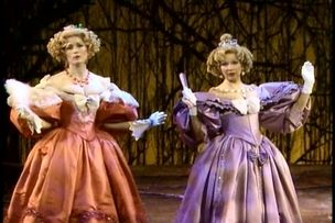 cinderella's stepsisters from Into the Woods, original Broadway cast