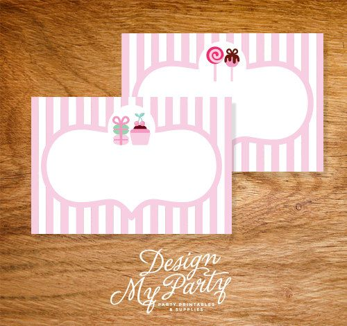 Bake Shop Buffet Labels or Name Cards by DesignMyPartyShop on Etsy