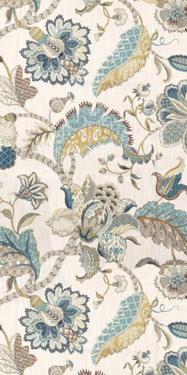 Kitchen fabric for curtains - P Kaufmann Finders Keepers French Blue Fabric