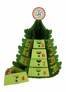Needles 'n' Knowledge: Christmas Countdown Tree Stack Tutorial