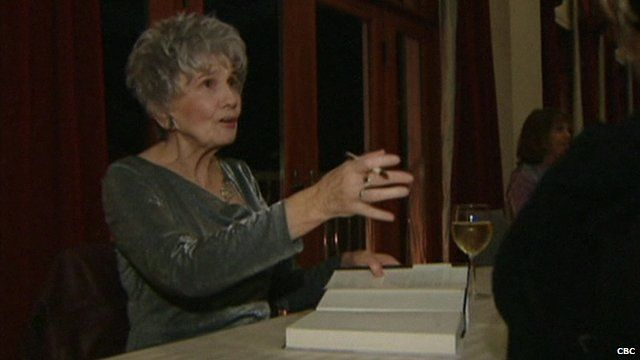 "Alice Munro wins Nobel Prize for Literature.  Munro: ""I would really hope that this would make people see the short story as an important art"""