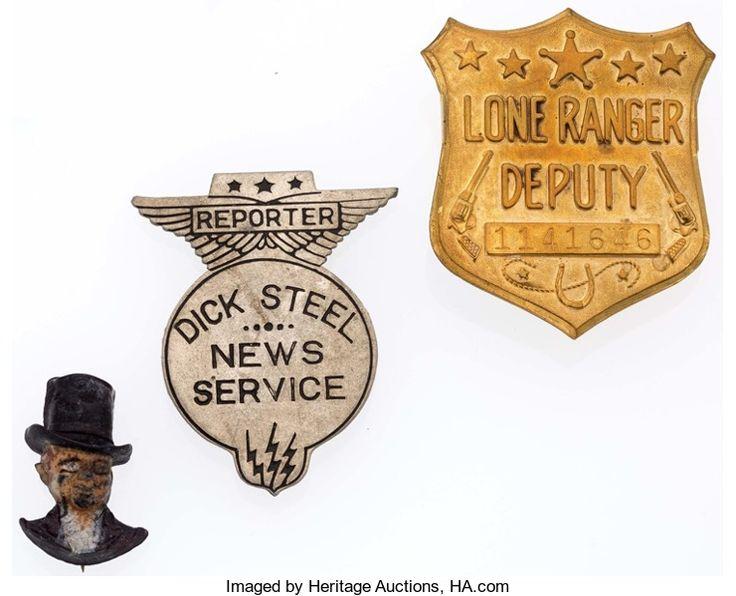 Premiums:Radio, Long Ranger, Dick Steel, and Charlie McCarthy Radio Premiums Groupof 3 (1934-1949).... (Total: 3 Items)