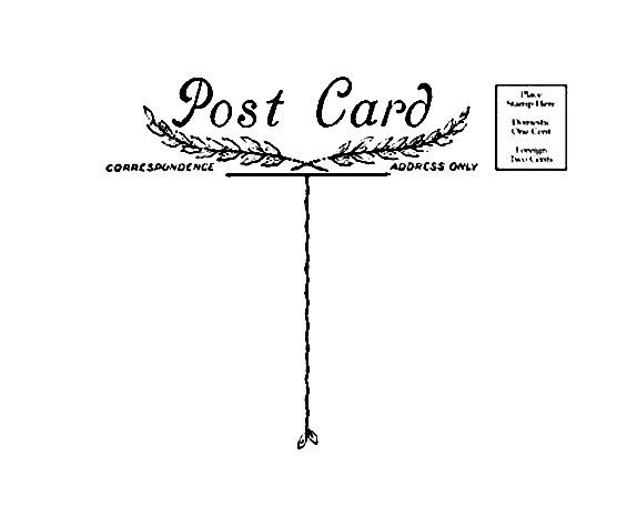 Antique Post Card  Rubber Stamp Postcard by terbearco on Etsy, $18.99