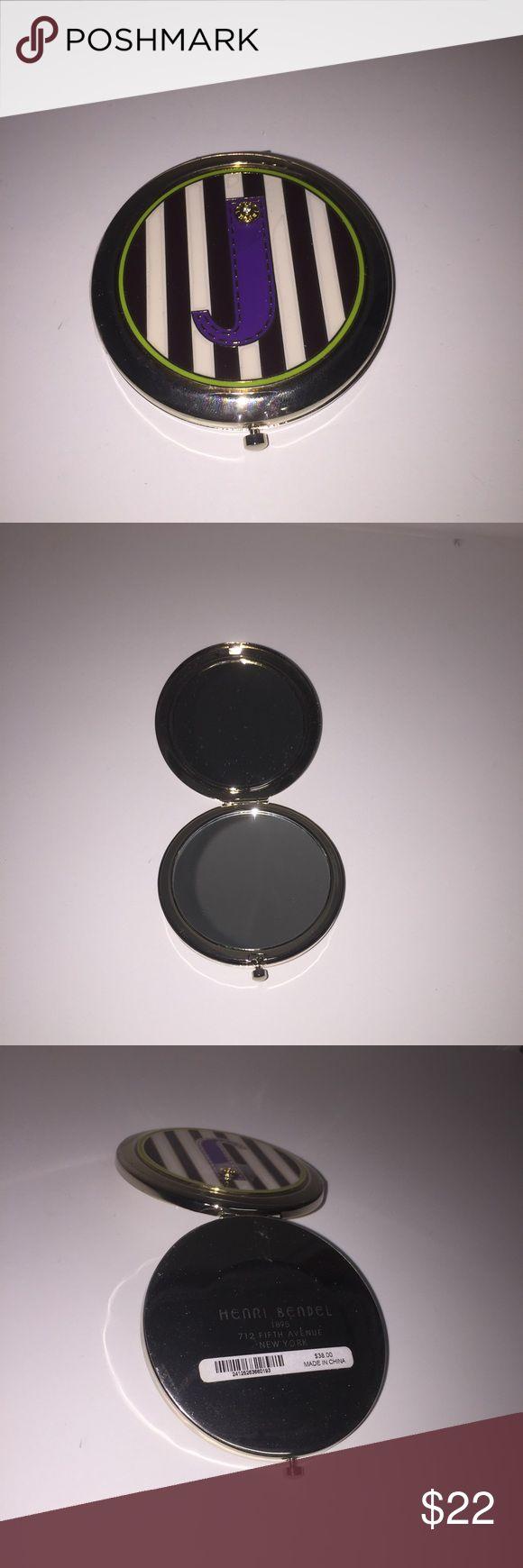 """Henri Bendel compact mirror with """"J"""" Henri Bendel compact mirror with """"J"""". New with plastic and price still on. henri bendel Other"""