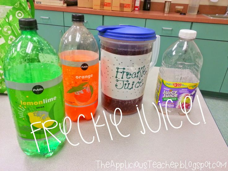 "freckle juice recipe! Cute idea for after your class reads, ""Freckle Juice"""
