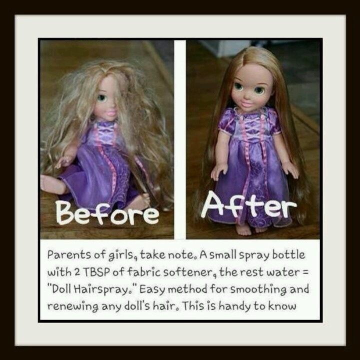 Doll hair conditioner- we have this exact same doll and her hair is in a braid for this reason, lol