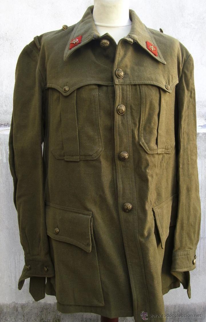 chaqueta militar de ejercito de tierra, con rombos de tela - Foto 1