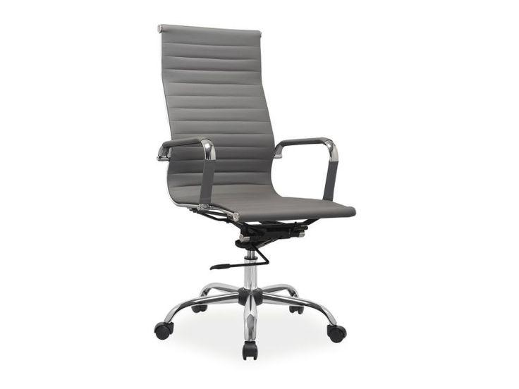Fotel Q-040 tapicerkę wykonaną ma z ekoskóry w kolorze czarnym i beżowym, białym, szarym, brązowym.