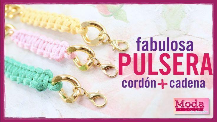 Kit  23187 Como hacer una pulsera con cadena y cordón episodio 2